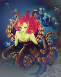 The litte (Witch) Mermaid by xPepperTea