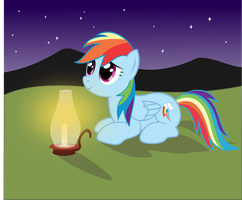 Rainbow Dash: Under the Stars by CrimsonLynx97