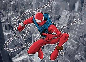 SCARLET SPIDER by JUANPUIS