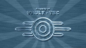 Vault-Tec Fallout Retro Blue by Solace-Grace