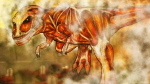 Attack On Titan T-Rex by Anagram-Daine