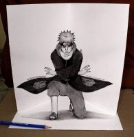 Pein 3d illusion sketch by Iza-nagi