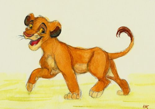 Simba Watercolor by Spiritwollf