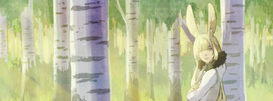 Lin among birch trees by tshuki