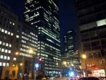 Montreal Night: City view/skyline by rainispouring
