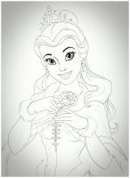Princess Belle sketch by carldraw