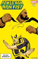 Power Man and Iron Fist mock cover. by dwaynebiddixart