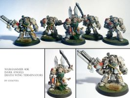 Dark Angels Death Wing Squad by chaotea