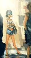 subway girl 3 by Benlo