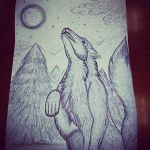 Wolf Drawing - For Michelle by CheshireDivine