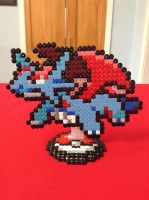 Pokemon: Salamence- Hama Design by Dogtorwho