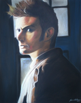 Tenth Doctor Pastel Drawing by sugarpoultry
