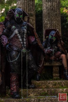 New spawn suits at graveyard photoshoot! by symbiote-x