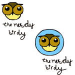 the nerdy birdy rough logo by AniPal