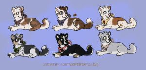 Doggy Adoptables [CLOSED] by Bc-Gunicord