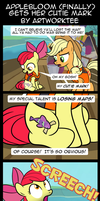 Comic: Applebloom (Finally) Gets Her Cutie Mark by artwork-tee