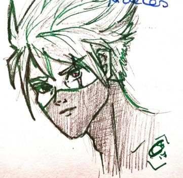 Line art kakashi by diminoucrackers