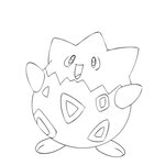 Lineart Togepi by C-Jean