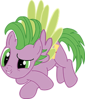 Spike as a Pony 2 by BluemoonHD