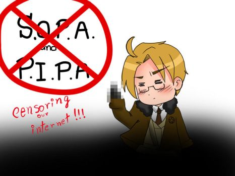 Stop SOPA and PIPA by Maggie-and-Day