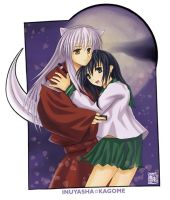 Inuyasha + Kagome by ChanpART