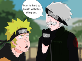 Kakashi's real face by ZeroSnake
