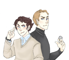 pchat: charles and erik by SpadeRabbit66