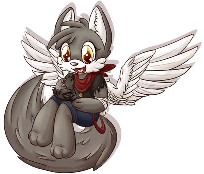 Angelfeather13 - Commission 4/4 by StrawberryJimJam