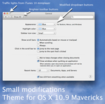 Small modifications, Theme for OS X Mavericks by rhubarb-leaf