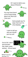 Cthulhu loves you by littlefluffie