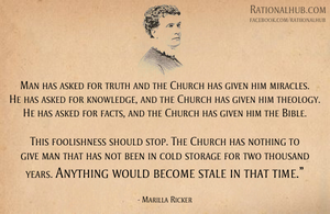 Marilla Ricker on the Church.. by rationalhub