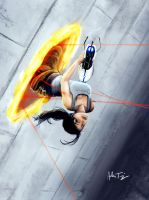 Chell Down by RyomaNinja