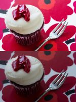 Retouch 2 - Red Velvet Cupcake by AngelicaVillegas