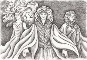 The Ainur: Ulmo, Osse and Uinen by AnotherStranger-Me