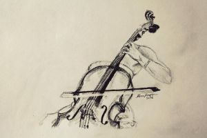 daily sketch - WIP - The Cellist by LucaHennig
