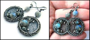 round labradorite earrings by annie-jewelry