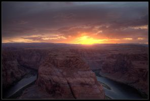 Horseshoe Bend Sunset HDR by Karl-B