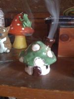 Mushroom House Incense Burner by whinnteress