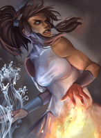 legend of korra by milkydayy