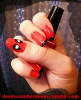 Deadpool Nails! by desiree-amber-moore