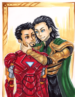 Loki x Tony Stark by StudioTipTop