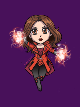 Scarlet Witch Chibi by FlukeOfFate