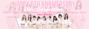 [130801] Happy 6th Anniversary of SNSD - WO9 by lovefany96