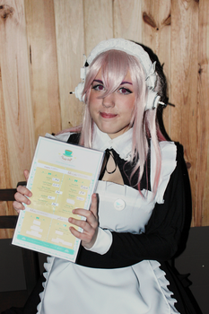 Super Sonico: Meido by SweetCandyCupkake