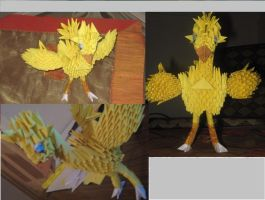 3D Origami Chocobo by Entissar