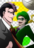 Two-Face and The Riddler 2 by s-azma