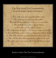 New Israeli Ten Commandments by SoberHigh