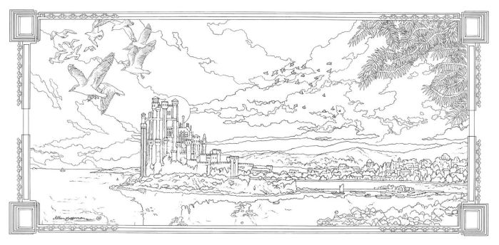 Game Of Thrones_ Coloring Book_ 15 by AllJeff