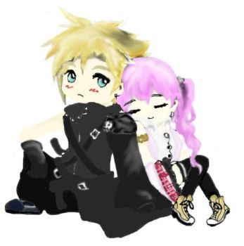 Cloud And Serah by Lavearyn97