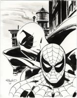 Prowler-Spider-man Sketch by BillReinhold